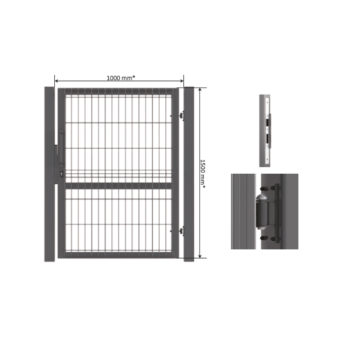 3D panel Wicket gate Zn + Ral