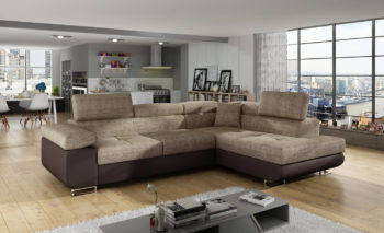 Corner sofa bed with bedding container ANTON An03