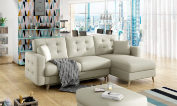 Corner sofa bed with storage container ASGARD ASG05