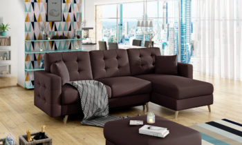 Corner sofa bed with storage container ASGARD ASG06