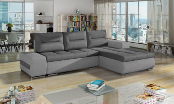 Corner sofa bed with storage container OTTAVIO
