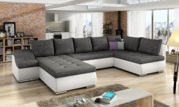 Corner sofa bed with storage container GIOVANNI Berlin02/Soft17