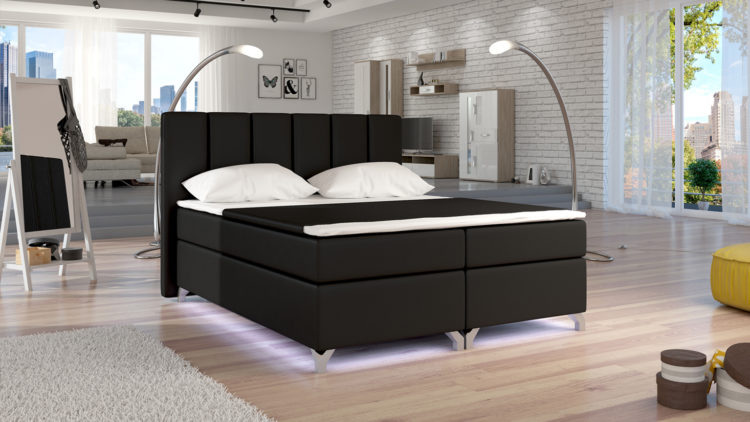 Jenkkisänky paketti BASILIO 180x200 cm LED-valaistuksella Soft 11
