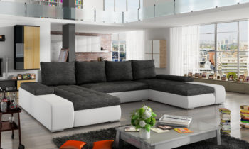 Corner sofa bed with storage container MARINO Berlin02/Soft17