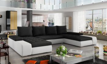 Corner sofa bed with storage container MARINO Sawana14/Soft17