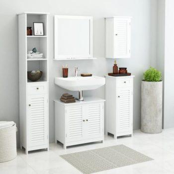 vidaXL Kylpyhuoneen kalusteryhmä 5 osaa valkoinen