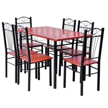 Ruokapöytä ja 6 Tuolia Maroon