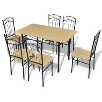 Ruokailusarja 1 x Pöytä ja 6 x Tuoli